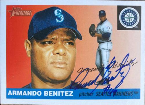 Armando Benitez Autographed 2004 Topps Heritage #248