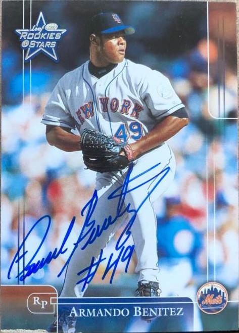 Armando Benitez Autographed 2002 Leaf Rookies & Stars #207