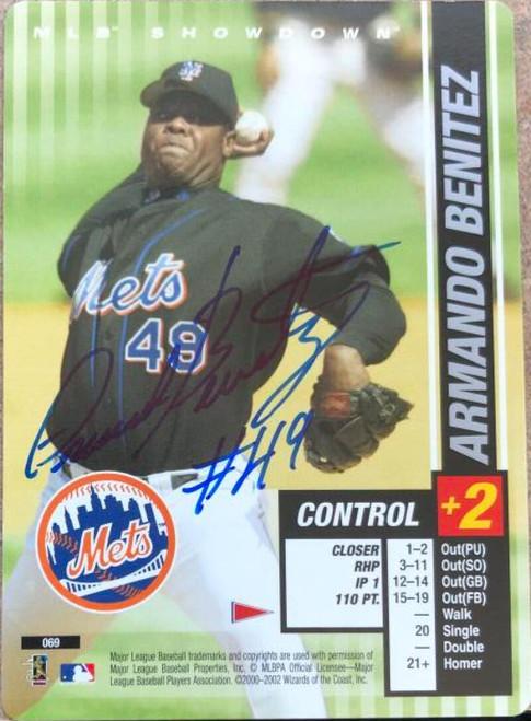 Armando Benitez Autographed 2002 MLB Showdown Pennant Run #69