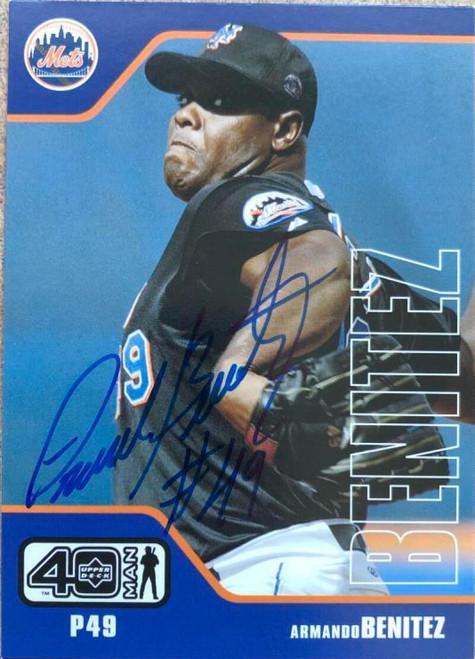 Armando Benitez Autographed 2002 Upper Deck 40-Man #824