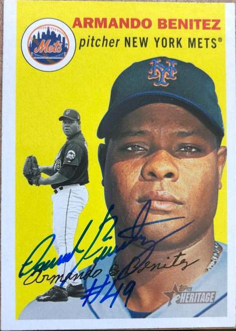 Armando Benitez Autographed 2003 Topps Heritage #12