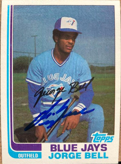 George Bell Autographed 1982 Topps #254 Rookie Card