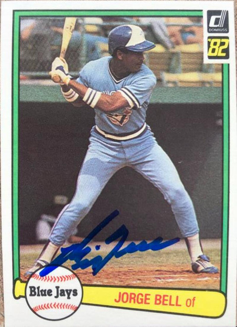 George Bell Autographed 1982 Donruss #54 Rookie Card