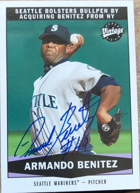 Armando Benitez Autographed 2004 Upper Deck Vintage #333