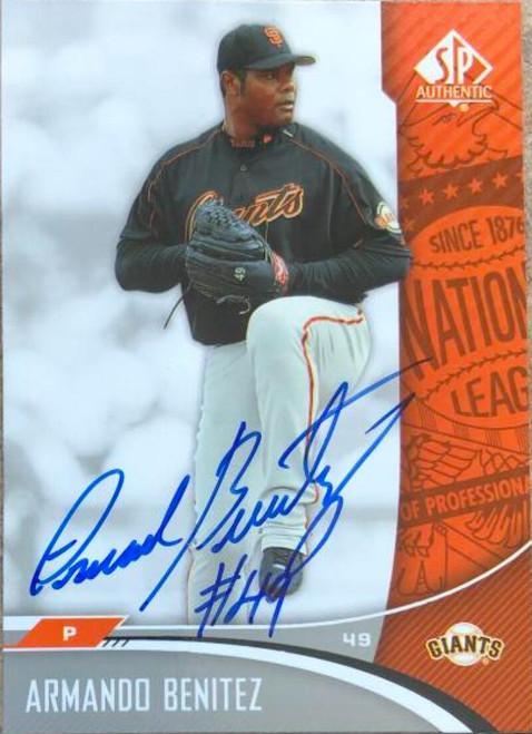 Armando Benitez Autographed 2006 SP Authentic #80