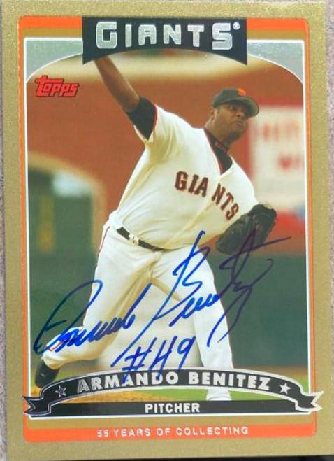 Armando Benitez Autographed 2006 Topps Gold #6 LE/2006