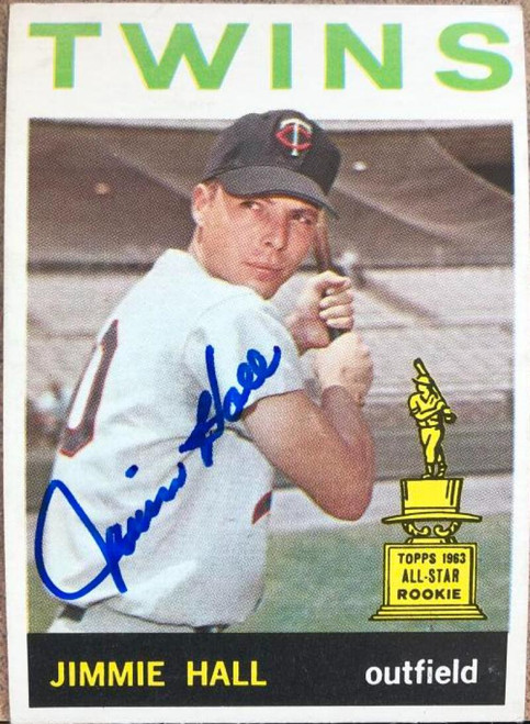 Jimmie Hall Autographed 1964 Topps #73 VERY TOUGH