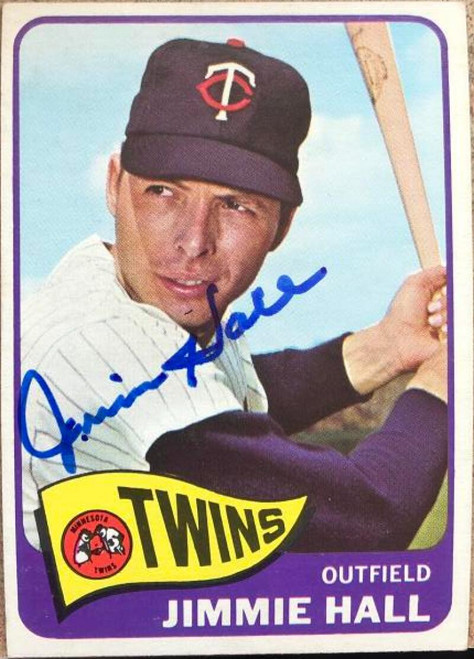 Jimmie Hall Autographed 1965 Topps #580 VERY TOUGH