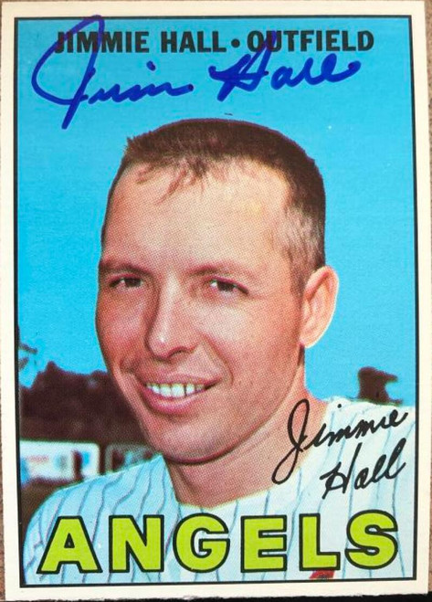 Jimmie Hall Autographed 1967 Topps #432 VERY TOUGH