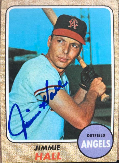 Jimmie Hall Autographed 1968 Topps #121 VERY TOUGH