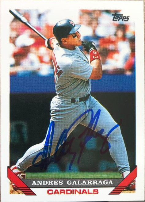 Andres Galarraga Autographed 1993 Topps #173