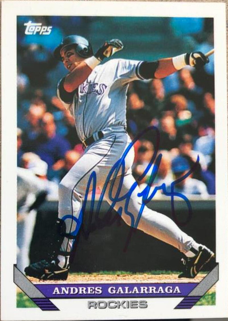 Andres Galarraga Autographed 1993 Topps #31T