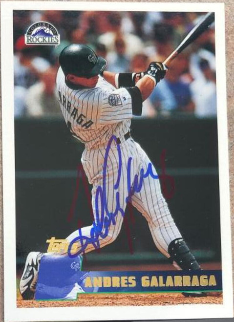 Andres Galarraga Autographed 1996 Topps #249