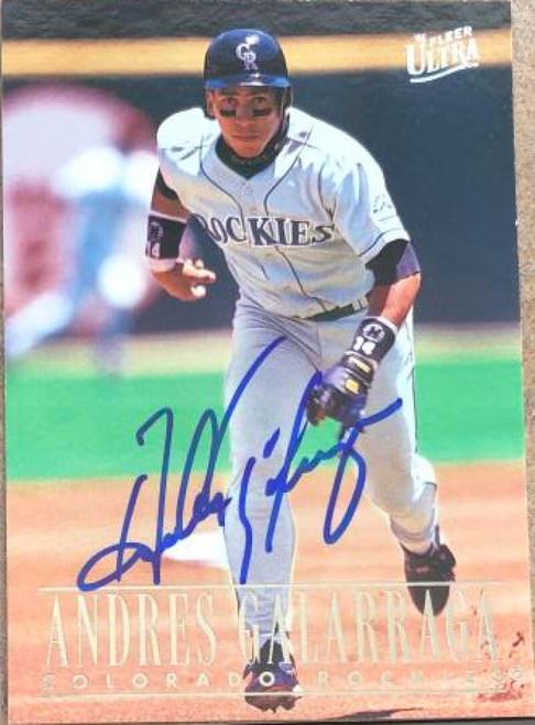 Andres Galarraga Autographed 1996 Fleer Ultra #189