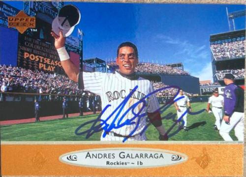 Andres Galarraga Autographed 1996 Upper Deck #65
