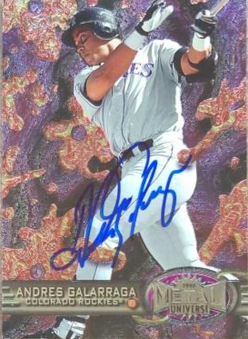 Andres Galarraga Autographed 1997 Metal Universe #74