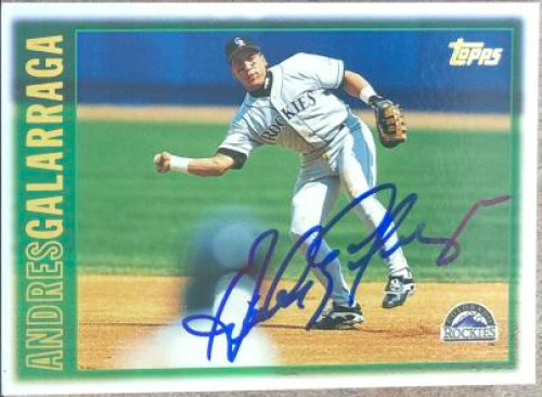 Andres Galarraga Autographed 1997 Topps #10