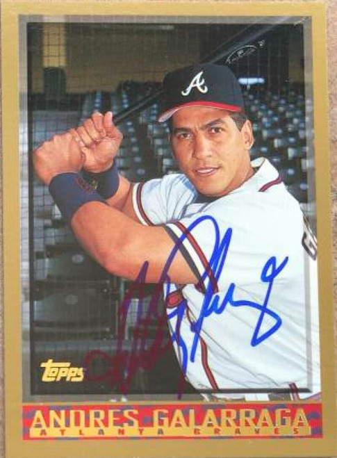 Andres Galarraga Autographed 1998 Topps #295