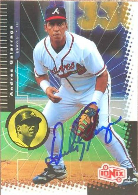 Andres Galarraga Autographed 1999 Upper Deck Ionix #8