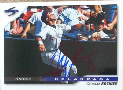 Andres Galarraga Autographed 1996 Score #329