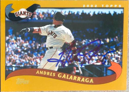 Andres Galarraga Autographed 2002 Topps #565