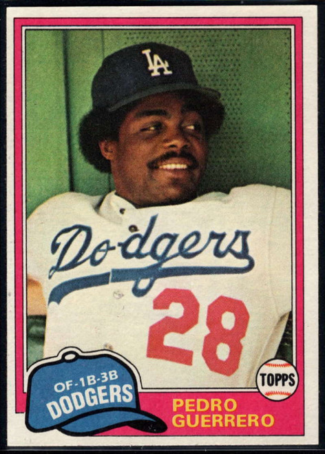 1981 Topps #651 Pedro Guerrero VG Los Angeles Dodgers