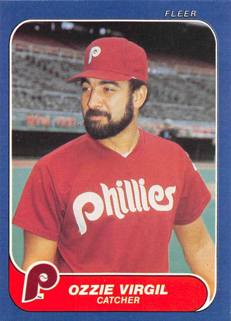 1986 Fleer #456 Ozzie Virgil VG Philadelphia Phillies