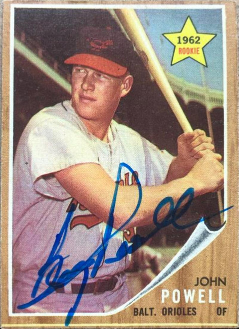 Boog Powell Autographed 1962 Topps #99 Rookie Card