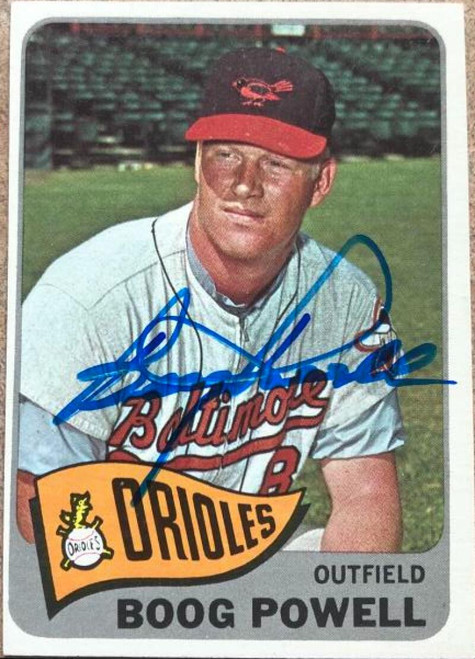 Boog Powell Autographed 1965 Topps #560