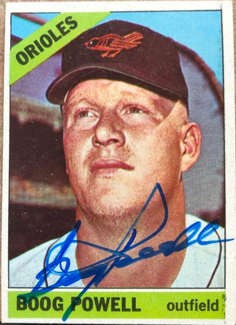 Boog Powell Autographed 1966 Topps #167