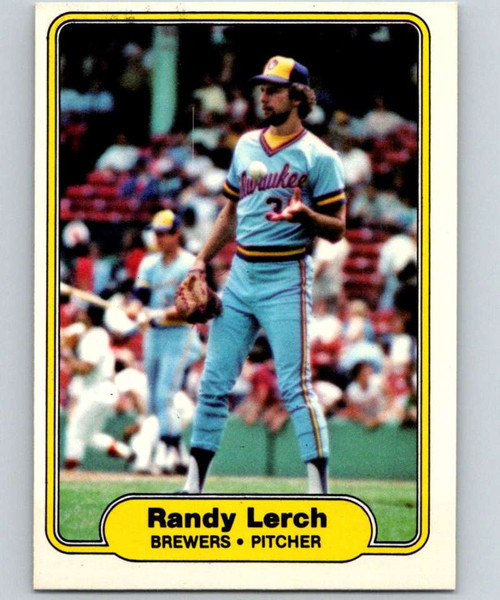 1982 Fleer #147 Randy Lerch VG Milwaukee Brewers