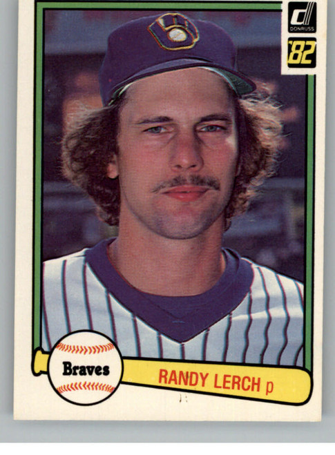 1982 Donruss #595a Randy Lerch ERR VG Milwaukee Brewers
