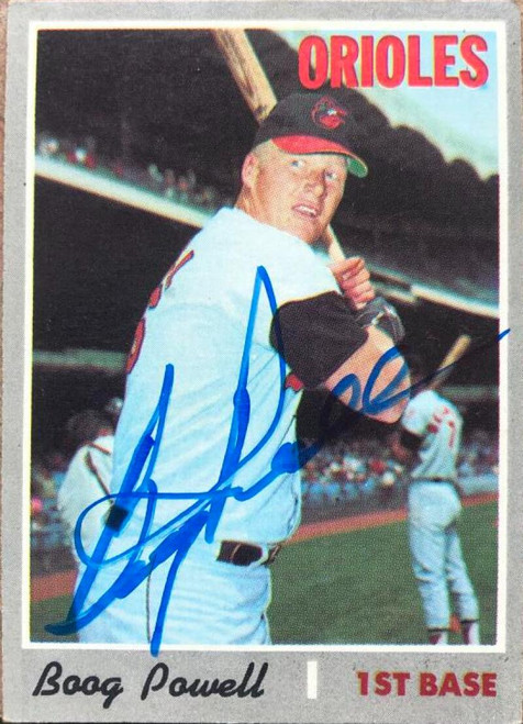 Boog Powell Autographed 1970 Topps #410