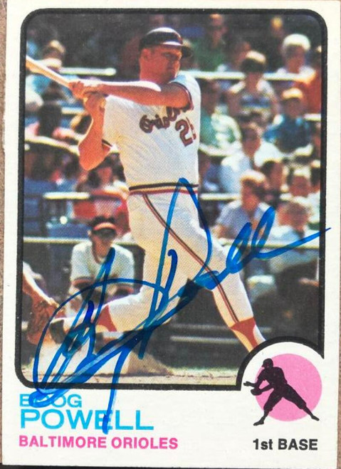Boog Powell Autographed 1973 Topps #325