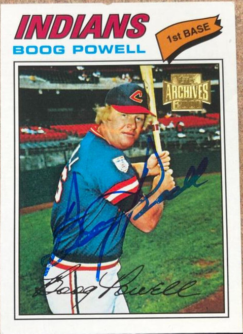 Boog Powell Autographed 2001 Topps Archives #149