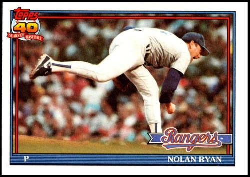 1991 Topps #1 Nolan Ryan VG Texas Rangers