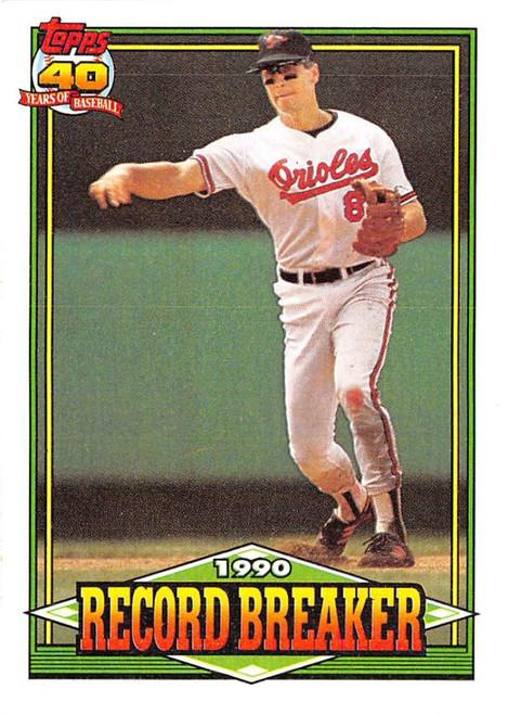 1991 Topps #5 Cal Ripken Jr. RB VG Baltimore Orioles