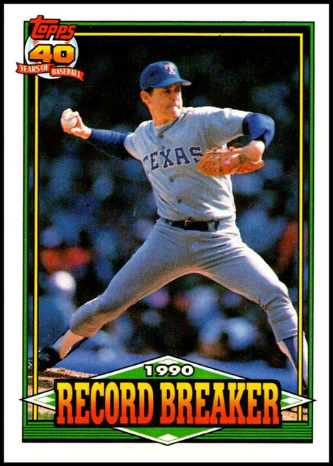 1991 Topps #6 Nolan Ryan RB VG Texas Rangers