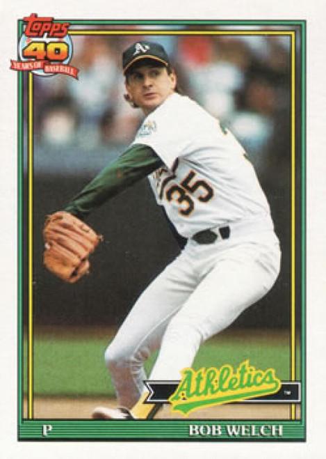 1991 Topps #50 Bob Welch VG Oakland Athletics