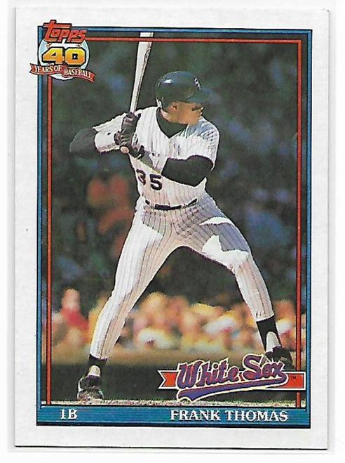 1991 Topps #79 Frank Thomas VG Chicago White Sox