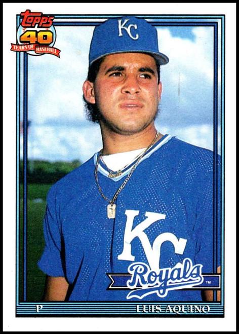 1991 Topps #169 Luis Aquino VG Kansas City Royals
