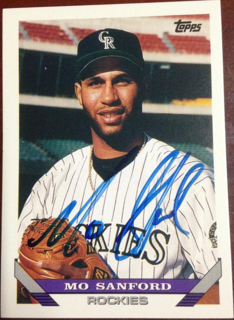 Mo Sanford Autographed 1993 Topps #634