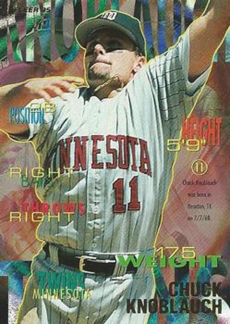 1995 Fleer #206 Chuck Knoblauch VG Minnesota Twins