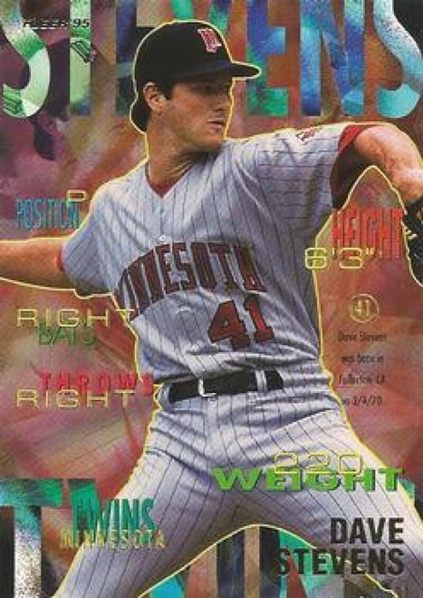 1995 Fleer #214 Dave Stevens VG Minnesota Twins