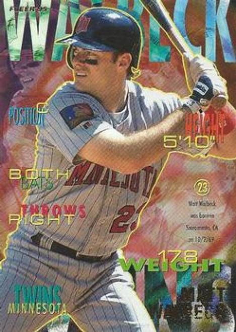 1995 Fleer #216 Matt Walbeck VG Minnesota Twins