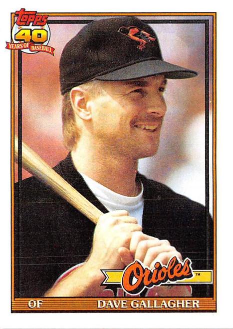 1991 Topps #349 Dave Gallagher VG Baltimore Orioles