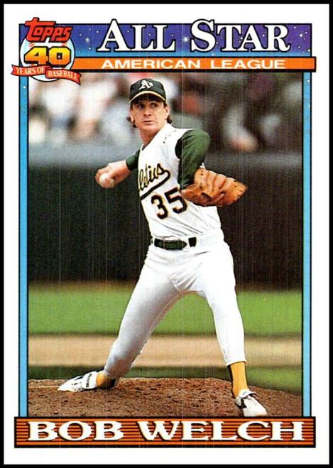 1991 Topps #394 Bob Welch AS VG Oakland Athletics