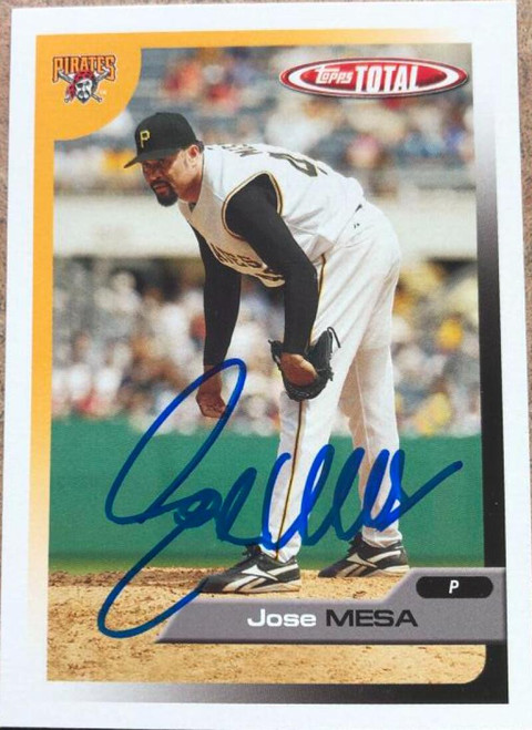 Jose Mesa Autographed 2005 Topps Total #483