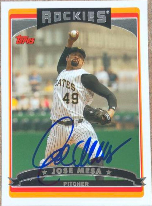 Jose Mesa Autographed 2006 Topps #189