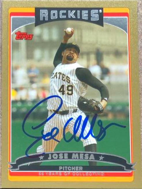 Jose Mesa Autographed 2006 Topps Gold #189 LE/2006